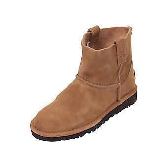 UGG الكلاسيكية غير مبطنة مصغرة أحذية المرأة براون الدانتيل أحذية الشتاء