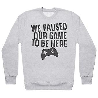 We Paused Our Game To Be Here - Matching Set - Baby / Kids Sweater, Mum & Dad Sweater