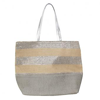 Lunar Carella metallic stripe bag