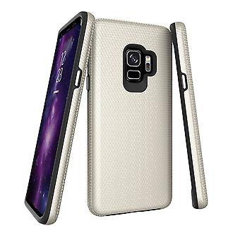 Pour Samsung Galaxy S9 Case, Gold Armor Shockproof Protective Slim Phone Cover