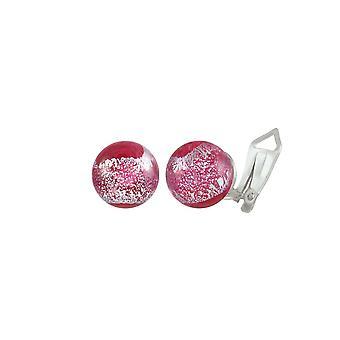Eternal Collection Bellissimo Ruby Sparkler Murano Glass Stud Clip On Earrings