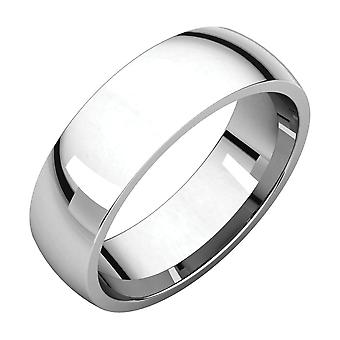 925 Sterling Silver 6mm Polished Light Comfort Fit Band Ring Size 10 Jewelry Gifts for Women