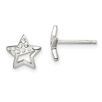 925 sterlinghopea amouksissa Star Post korvakorut korut lahjat naisille - 1,2 grammaa