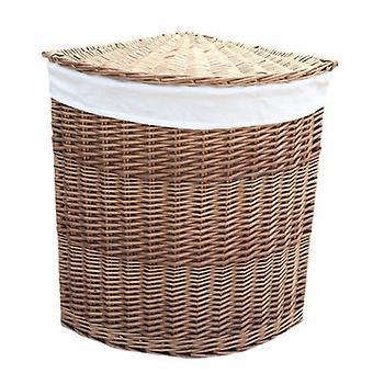 Pequeña luz al vapor en cestas de lavadero de la esquina con blanco forro