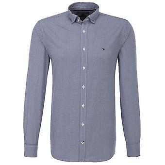 Tommy Hilfiger Shirt Mens Devan Check Estate Blue
