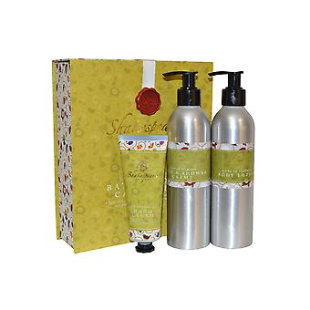 Shakespeare Inspired Love in Idelness Bath and Body Care Trio Shower Creme, Body Lotion, Hand Cream