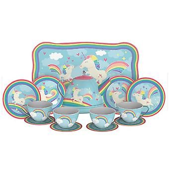 Schylling - unicorn tin tea set