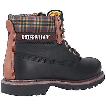CAT Lifestyle Cat Lifestyle Colorado Plaid Lace Up Boot Zwart