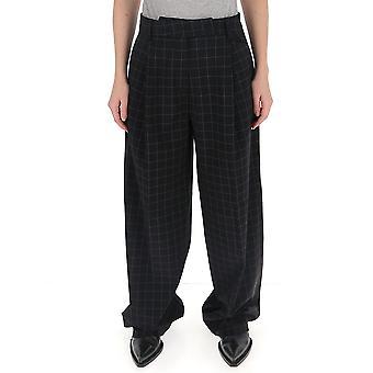 Maison Flaneur 20smdpa547ty283 Women's Black Wool Pants