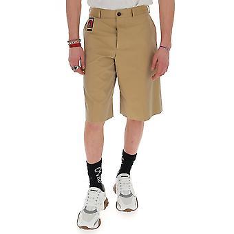 Alexander Mcqueen 599295qos449730 Män's Beige Cotton Shorts