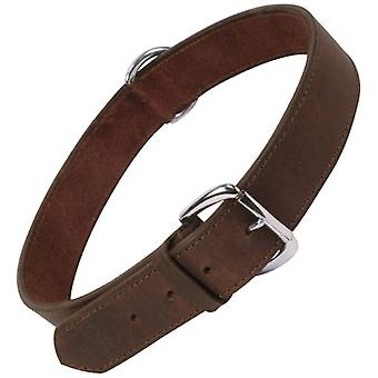Gloria Huisdieren Smooth Collar Brown (Honden, Collars, Leads en Harnassen, Collars)