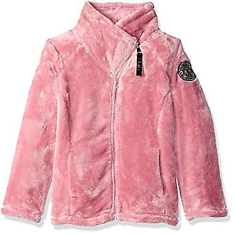 DKNY Girls' Big Fleece Jacket, Blush, 14/16