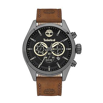 Timberland Watches Tbl.16062jyu/02 Ashmont Black & Brown Leather Men's Chronograph Watch