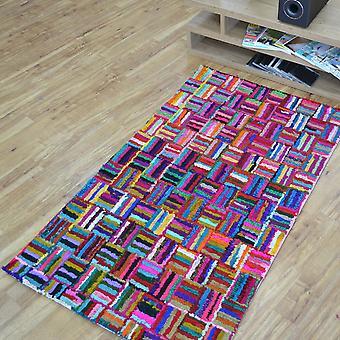 Katoen Chindi Sunshine veelkleurige tapijten 02