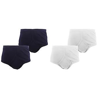 FLOSO Mens 100% Cotton Interlock Y-Front Underwear (Pack Of 4)