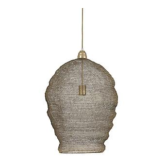 Light & Living Nordic Wire Mesh Hanging Pendant Lamp antique bronze 45x60cm