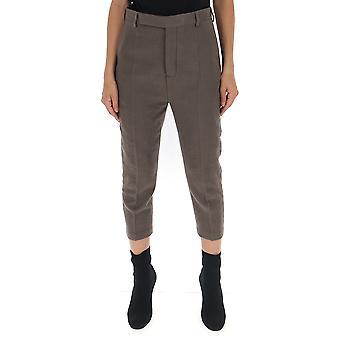 Rick Owens Rp19f5309wf34 Women's Grey Wool Pants