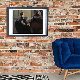 Edouard Manet - Madame Manet ou Piano Poster Print Giclee