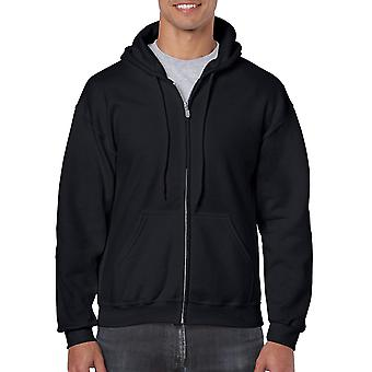 Gildan Men's Fleece Zip Hooded Sweatshirt, Black,, Black, Size XXX-Large