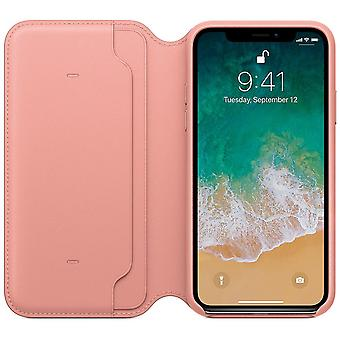 Genuine leather folio iphone 8 plus case