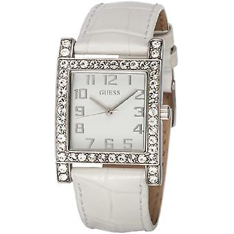 Guess W0129L1-wristwatch, leather, color: white