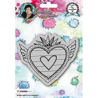 Studio Light Cling Stamp Hearts Art door Marlene 2.0 nr.24 STAMPBM24