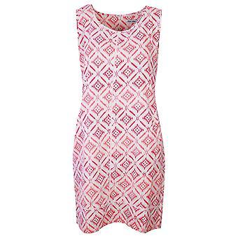 Alice Collins Harriet tyyli coral geometrinen design hihaton mekko