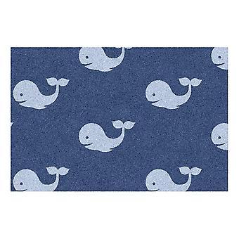 Kids Rug - Whale - Washable - 50 x 75 cm