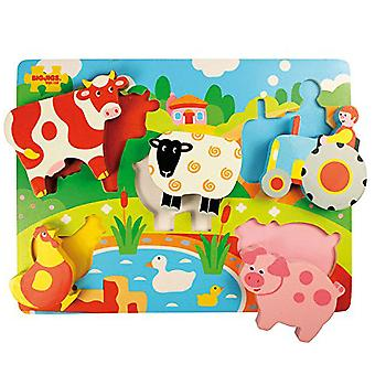 Bigjigs Brinquedos Chunky Lift Out Puzzle Farm