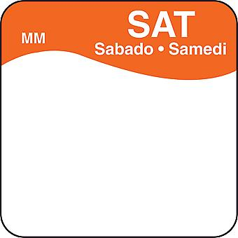 DayMark Removable Saturday Food Labels