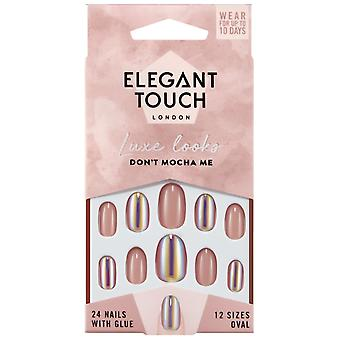 Elegant Touch Luxe Looks False Nails Collection - Dont Mocha Me (24 Nails With Glue)