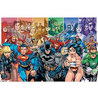 Justice League Amerika Generationer Maxi Plakat