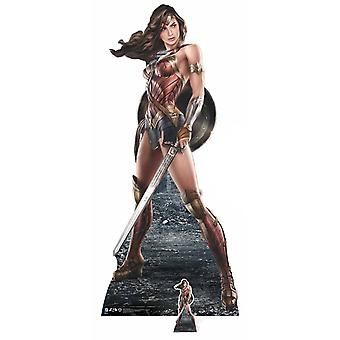 Wonder Woman Holding Shield and Sword Lifesize Cardboard Cutout / Standee / Standup