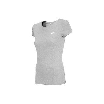 4F TSD001 NOSH4TSD001CHODNYJASNYSZARYMELAN universal all year women t-shirt