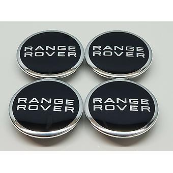 Black Range Rover Wheel Centre Caps Hub Badges 63mm 4 PSC For Evoque Defender Discovery Sport Velar Freelander