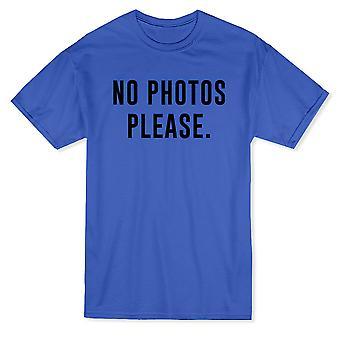 Pas de Photos s'il vous plaît citation drôle T-shirt homme