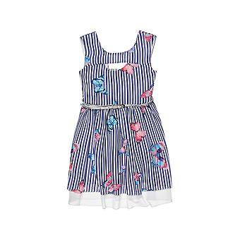 Alouette Girls' Striped Dress With All Over Motif And Belt