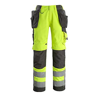 Mascot wigan hi-vis work trousers 15531-860 - safe supreme, mens -  (colours 3 of 3)