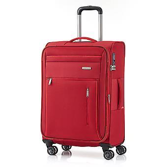 rejsestedet Capri Trolley M, 4 ruller, 66 cm, 67 L, rød