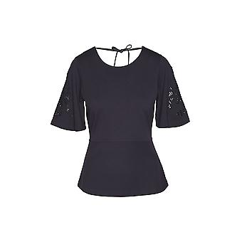 Gant Women's Lace Sleeve T-Shirt