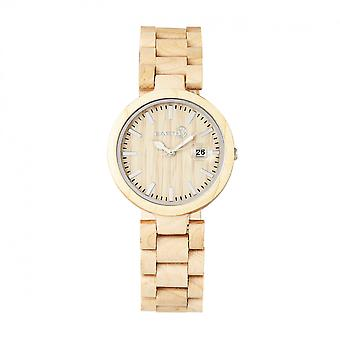 Jorden trä Stomates armband Watch w/datum-Khaki/Tan