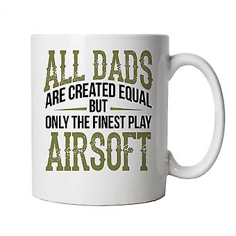 Finest Dads Play Airsoft, Mug - Fathers Day Birthday Gift Pewpew Secret Santa