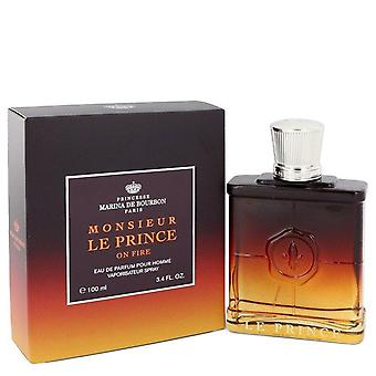 Marina De Bourbon Le Prince In Fire Eau De Parfum Spray By Marina De Bourbon 3.4 oz Eau De Parfum Spray