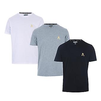 Men's Money Aurous 3 Pack T-Shirt in Black