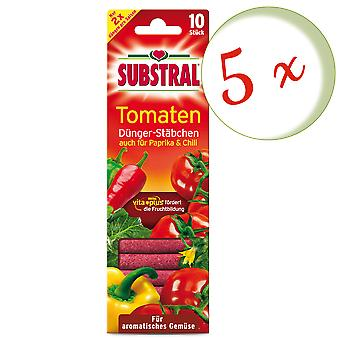 Sparset: 5 x SUBSTRAL® fertilizer chopsticks for tomatoes, 10 pieces