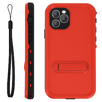 Protective Case iPhone 11 Pro Bi-material Waterproof 2m with video holder Red