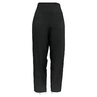 Women with Control Women's Petite Pants Tushy Lifter Slim-Leg Black A374340