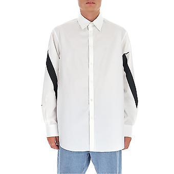Valentino Uv3aba956ewa01 Men's White Cotton Shirt