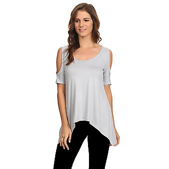 SO8005SL - WSST - Women's Cold Open Shoulder Short Sleeve Shirt