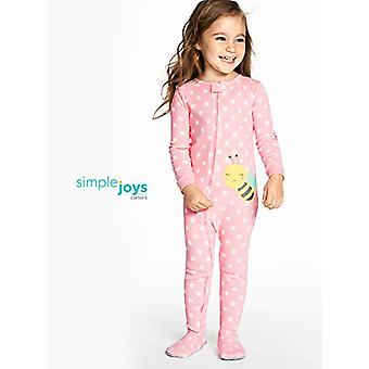 Simple Joys by Carter's Toddler Girls'  3-Pack Snug-Fit Footed Cotton Pajamas...